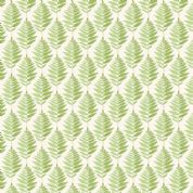 Fern Garden by Makower UK - 6293 - Stylised Fern Leaves, Green on Off White - 2078_G - Cotton Fabric